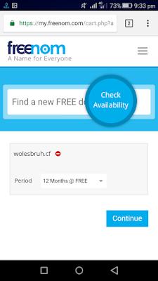 Membuat Akun Freenom (free domain) di Smartphone