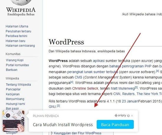 Menggunakan Sniply untuk promosi konten blog
