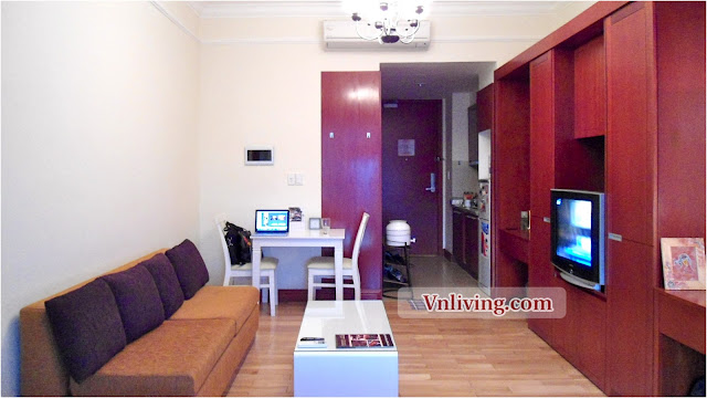 Studio The Manor for rent furnished in Binh Thanh Dist HCMC