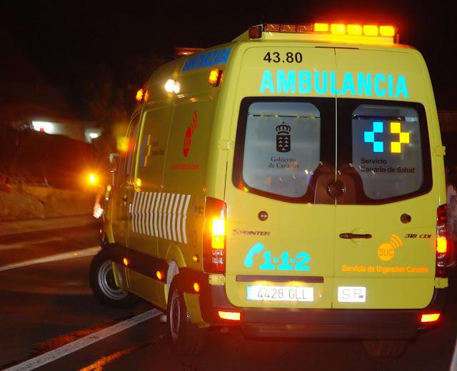 Un hombre herido  al ser atropellado en San Andrés, Arucas, Gran Canaria
