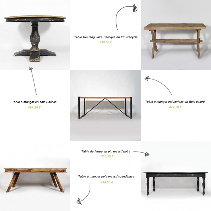 table a manger bois - Made in Meubles
