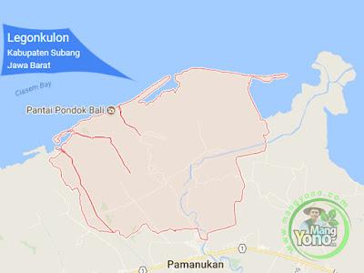 PETA : Kecamatan Legonkulon, Kabupaten Subang, Jawa Barat