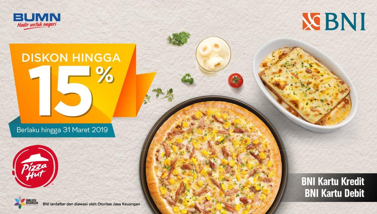 Bank BNI - Promo Diskon hingga 15% di Pizza Hut (s.d 31 Maret 2019)