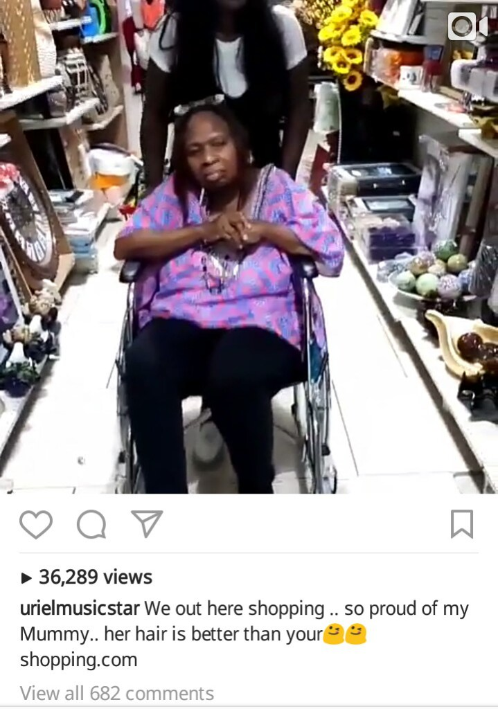 Image result for uriel taking her mother on wheelchair