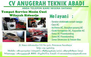 Tempat Service Mesin Cuci Wilayah Sidoarjo
