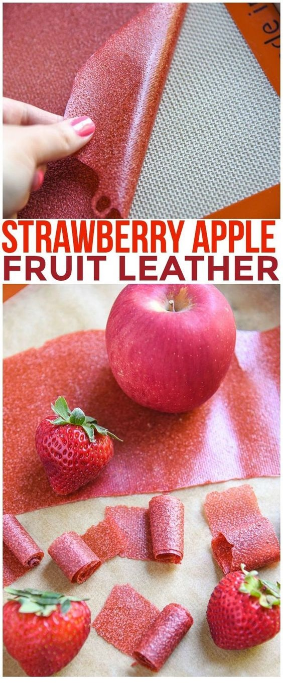 Strawberry Apple Fruit Leather Recipe