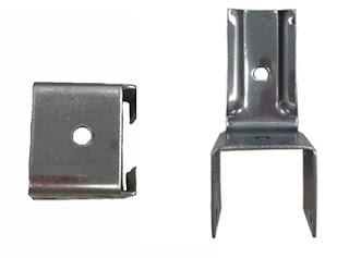 ЗВН Верхний элемент замка для крепления композитной кассеты (нерж. сталь)1,2мм