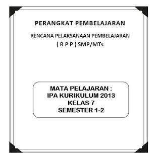 RPP IPA Kelas 7 K13 (Revisi)