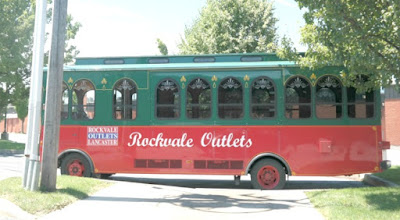 Rockvale Outlets Trolley in Lancaster Pennsylvania