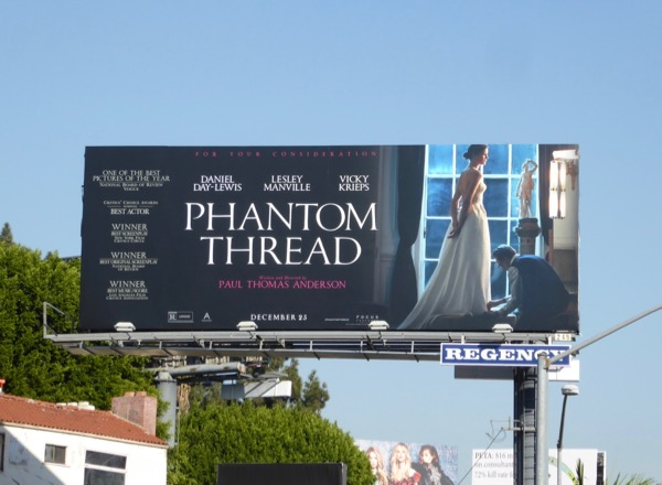 Phantom Thread movie FYC billboard