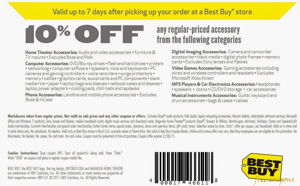 The absolute best time to shop at Best Buy is during the Black Friday and Cyber Monday sale. Not only is this the best time to stock up on great electronics deals, you can also find 20% off coupons that work on specific sale events or a % off coupon code to use at Best Buy Outlet.