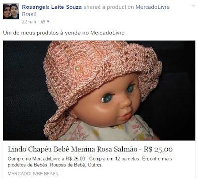 Chapéuzinho em crochet para bebê menina 51e09d59958