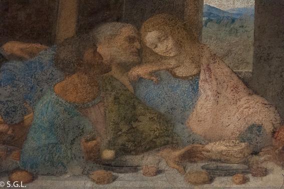 Judas en la ultima cena de Leonardo da Vinci. Milan