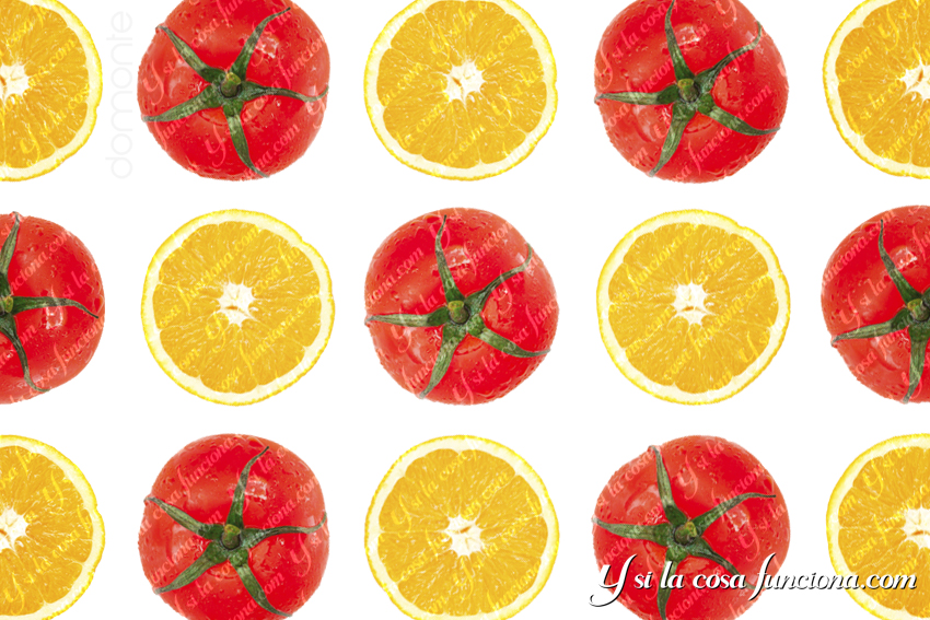 Naranja y tomate Vitamina C Licopeno