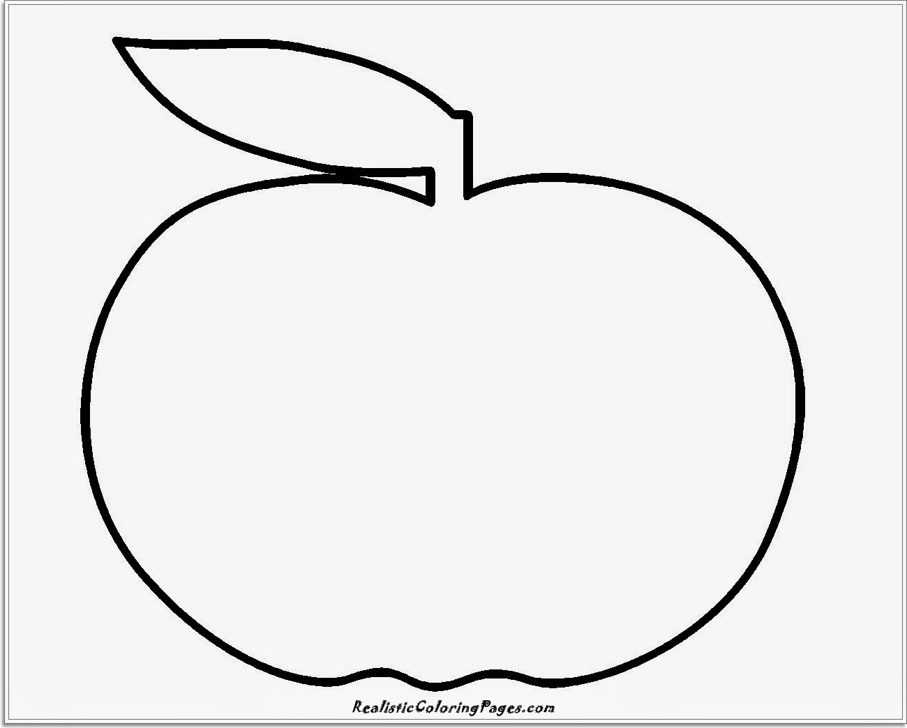 simple apple coloring pages