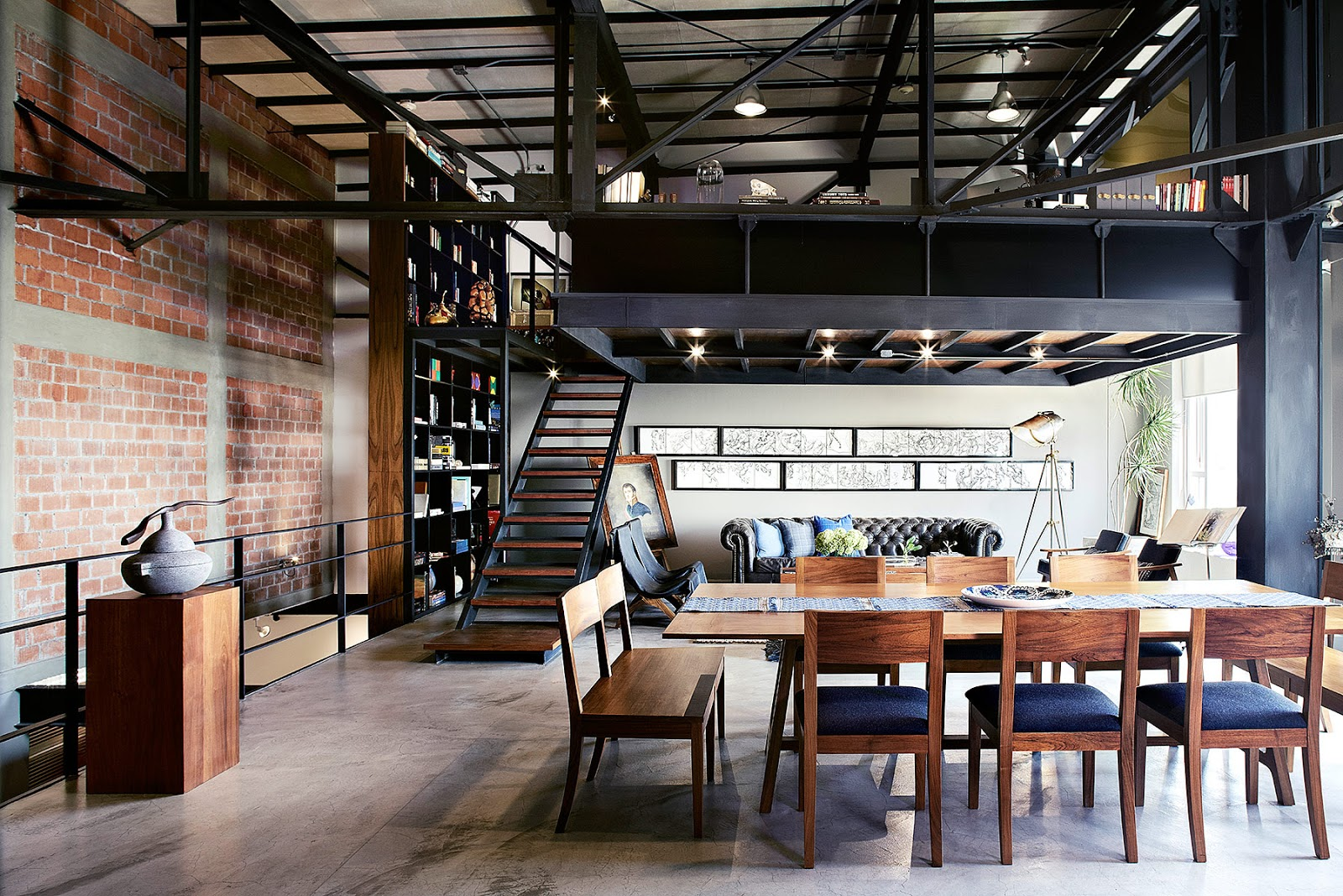 Un loft in stile industriale in messico coffee break for Design moderno casa industriale