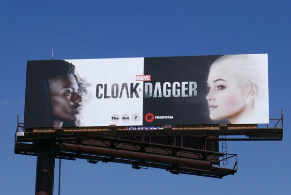 Marvel Cloak and Dagger series premiere billboard