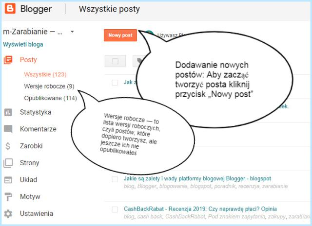 Jak dodać nowy post na platformie Blogger?