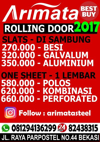 gambar harga rolling door di bogor