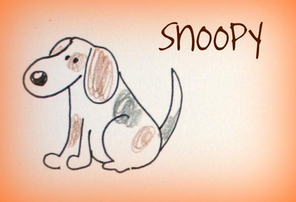A casa di eli per l 39 ora del t come disegnare cani for Cane disegno facile