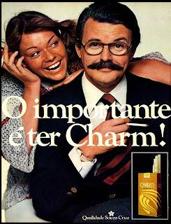 propaganda cigarros Charm - 1977. propaganda anos 70; história decada de 70; reclame anos 70; propaganda cigarros anos 70; Brazil in the 70s; Oswaldo Hernandez;