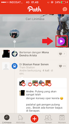 Cara Buat Coverstory di Path | Fitur Terbaru Path Seperti Snapchat