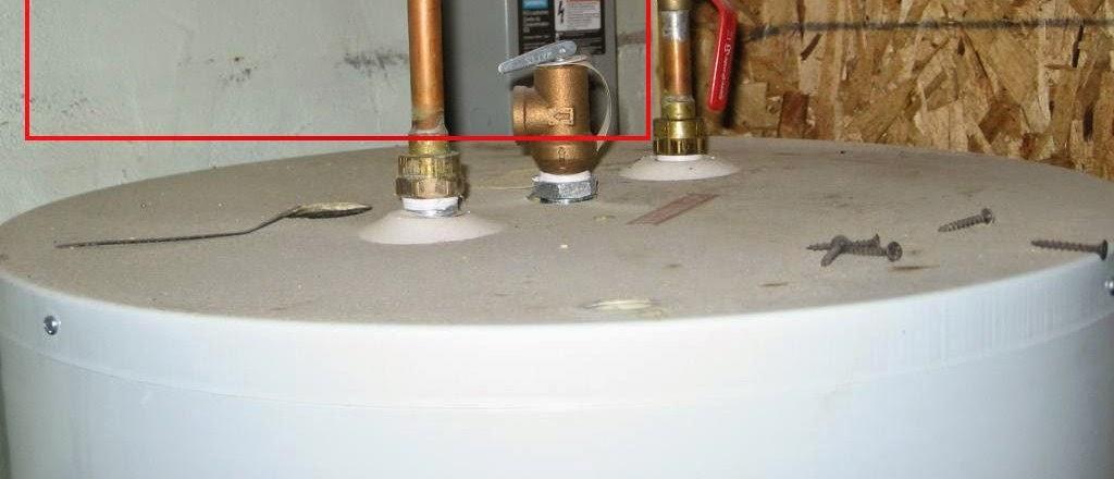 chauffe-eau tuyau décharge manquant