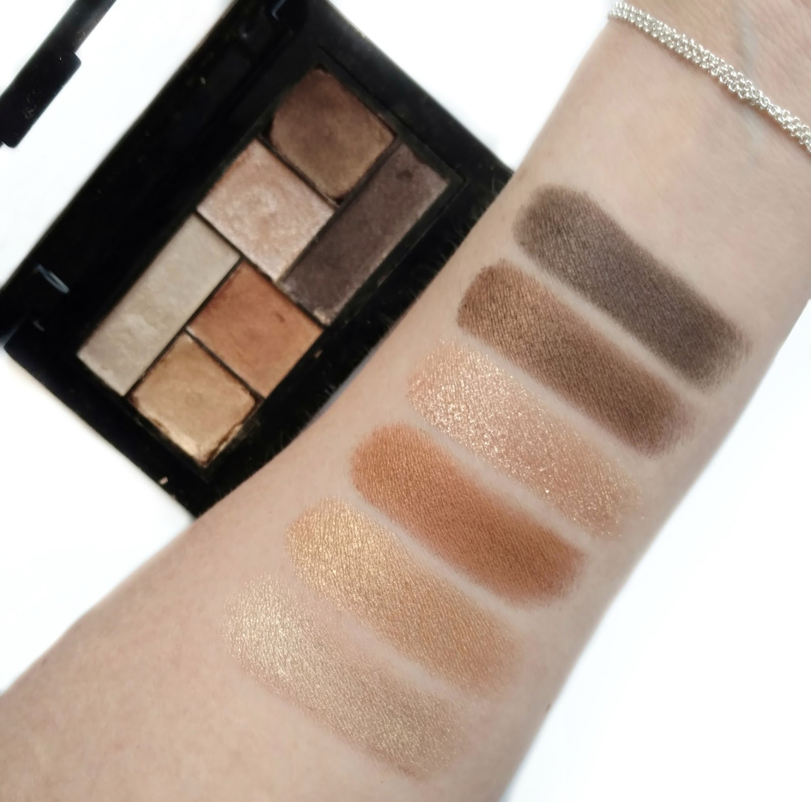 maybelline city mini palette rooftop bronzes swatches