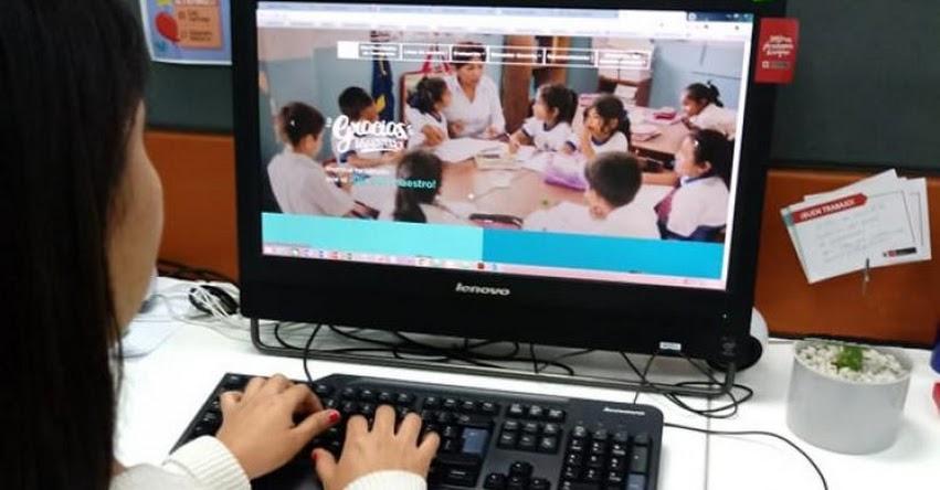 GRACIAS, MAESTRO: Minedu lanza página web para saludar al docente por su día