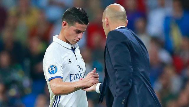Madrid Dinanti 'Tiga Final', Zidane Enggan Tanggapi Rumor soal James