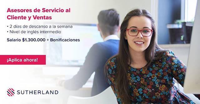 Asesor de Servicio al Cliente y Ventas en Bogota