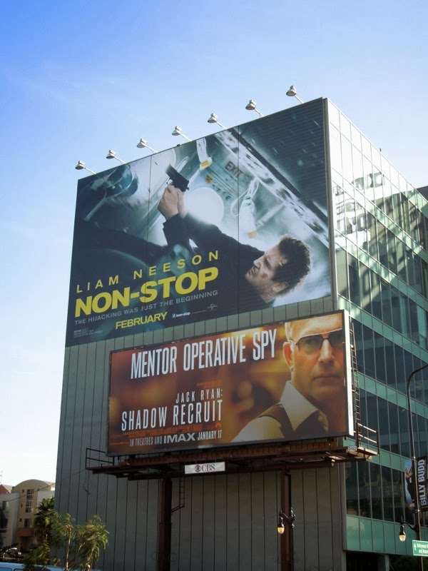 Giant Non-Stop movie billboard Hollywood