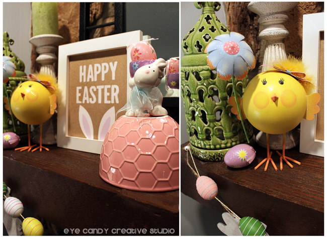 bunny ears, happy easter art, easter bunny, chick, flower, easter eggs
