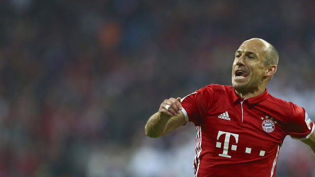 Usai Absen Lama, Robben Tandai Comeback dengan Gol