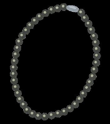 黒真珠のネックレスのイラスト