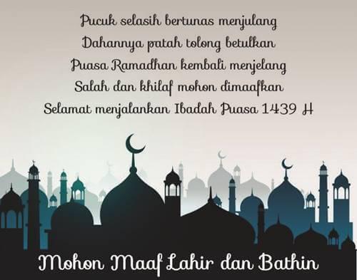 selamat menunaikan ibadah puasa ramadhan 2018, puasa ramadhan, ramadhan 2018