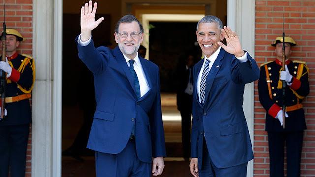"""Obama: """"Felicito a Rajoy por el progreso económico"""""""