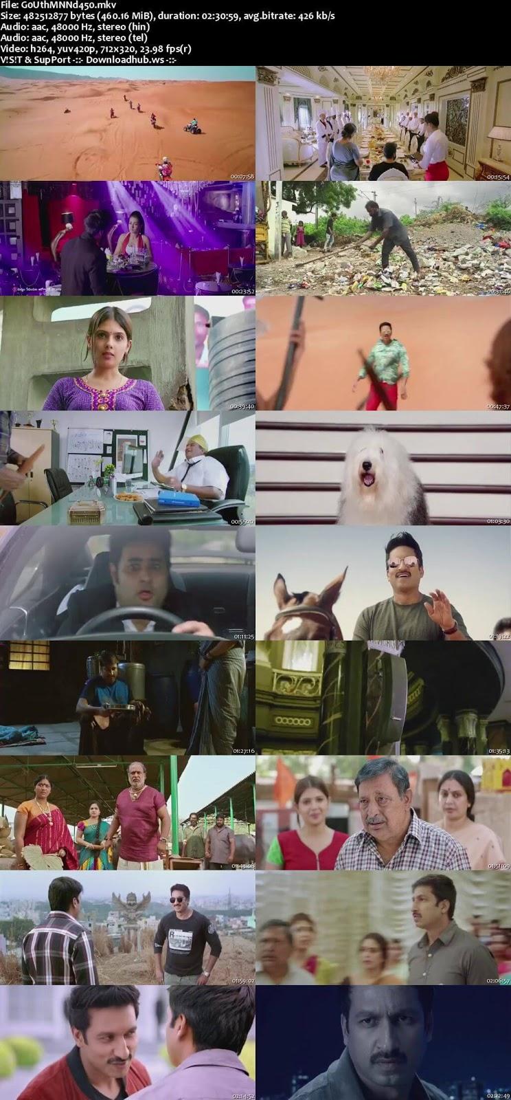 Goutham Nanda 2017 UNCUT Hindi Dual Audio 480p HDRip Free Download