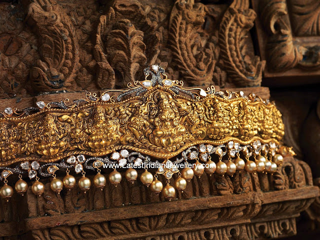 Lakshmi design gold vaddanam