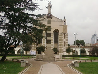 The Cathedral of San Marco, in the 'ideal' Fascist town of Latina in Lazio, was built in 1932