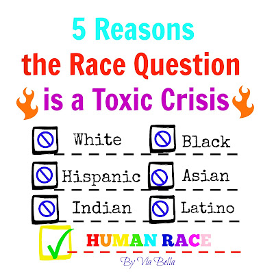 5 Reasons the Race Question is a Toxic Crisis, girl scouts, boy scouts, schools, public school, race, black, white, African American, Hispanic,Latino, Race issue, Race questions, Toxic, Crisis, Racism, Racial crisis, social construction of race, Via Bella, anger, human race
