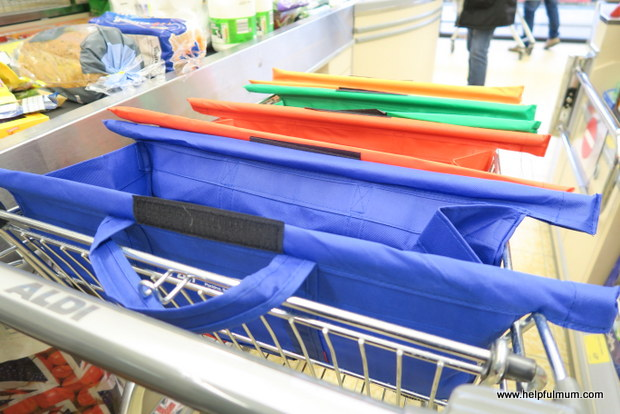 Trolley bags at checkout