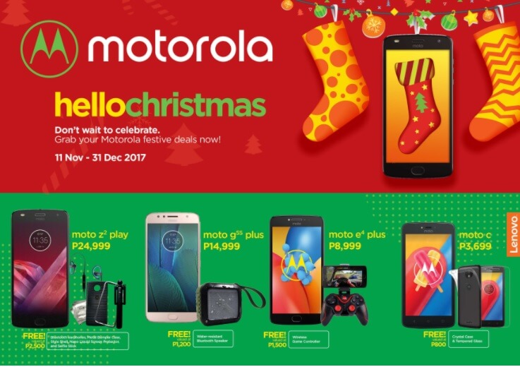 Buy Motorola Smartphones to Get Exciting Freebies under Hello Christmas Promo