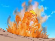 Naruto usando chakra del kyubi zorro 9 nueve colas