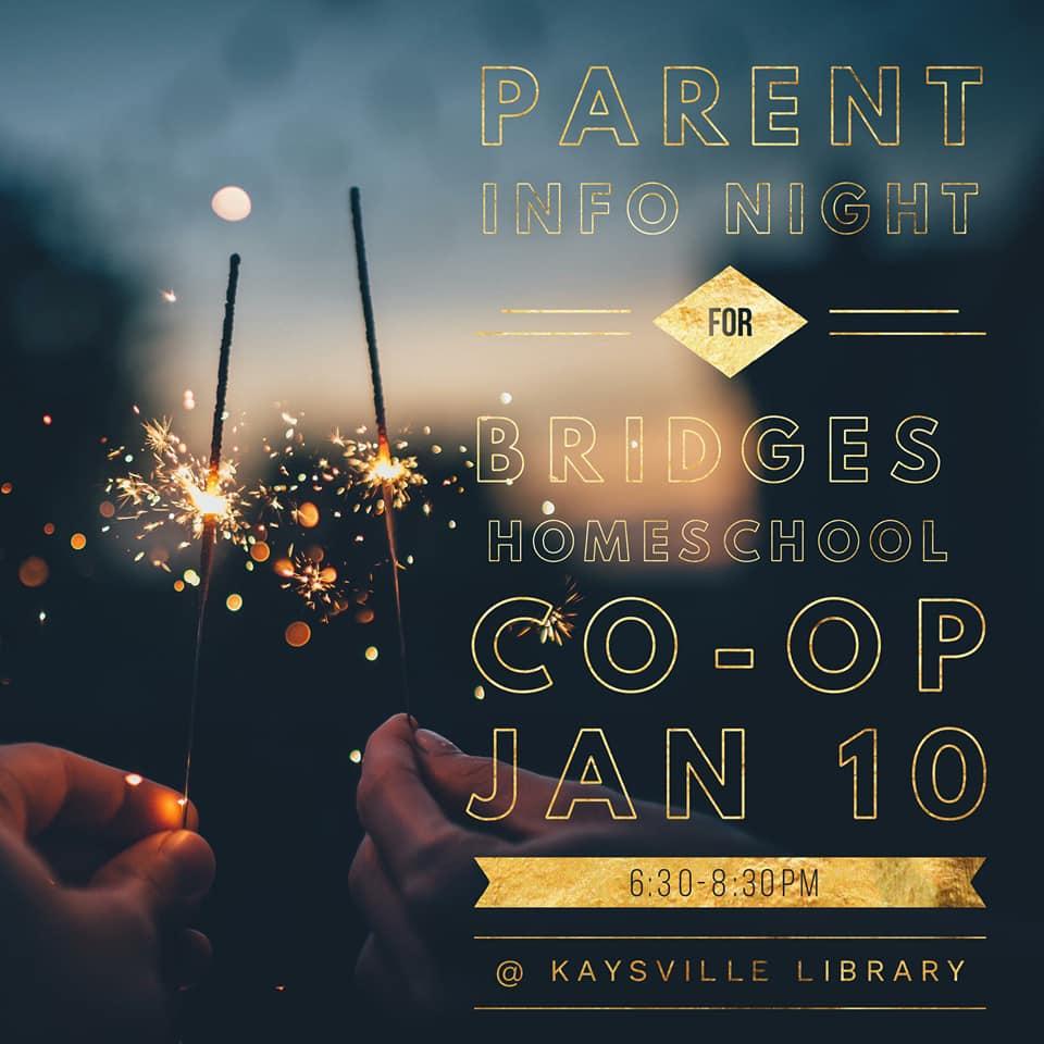Parent Info Night at Kaysville Library on Jan 10, 2019