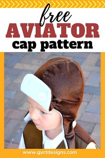 Make your own little one feel like flying with this simple free aviator hat pattern.  Grab the free pattern and sew it up for a Halloween costume, dress up box or fun winter wearing.