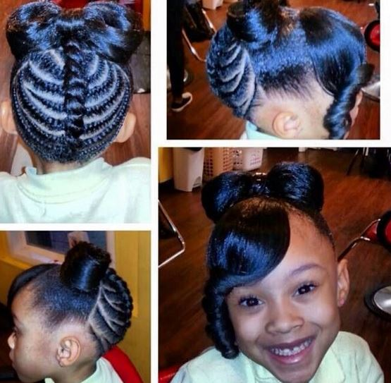 Black Kids Ponytail Hairstyles