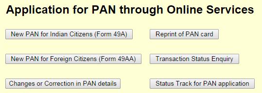 PAN Card Online Application Registration