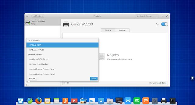 Cara Mengkoneksikan Printer yang di sharing (Elementary OS)