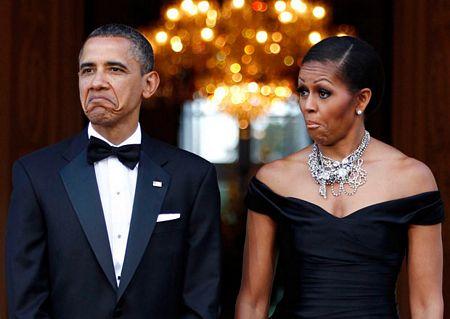 Hình ảnh chế hài hước của Obama - Cảm xúc vui, obama va phu nhan